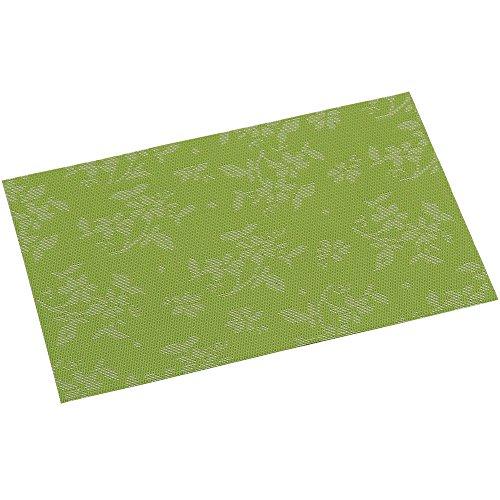 KESPER Set de Table en plastiqué en Flore Vert - Amende Plastique, Multicolore, 43x29x0,1 cm