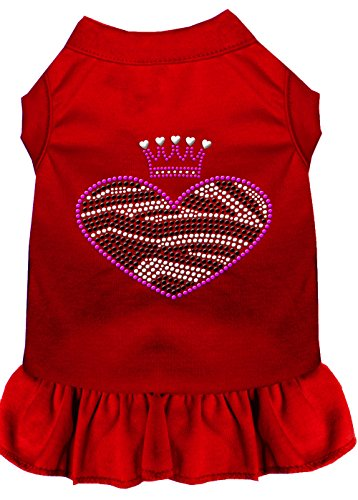Mirage Pet Products 57–58SMRD rot Zebra Herz Strass Kleid, klein