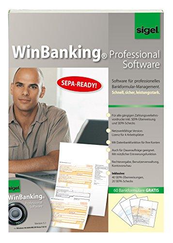 SIGEL SW235 WinBanking Professional, Software für Bankformular-Management, inkl. 60 Bankformulare - auch für SEPA