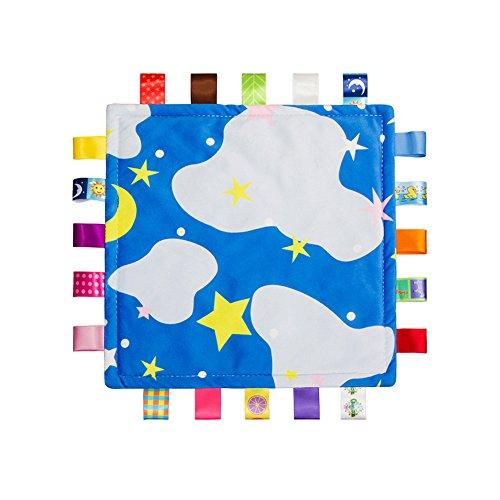 Bunte Baby-Sicherheitsdecke Soft Touch Plüsch (keine Schäden an der Babyhaut) Schlaf-Helfer, Appease Handtuch für Kinder Kleinkinder