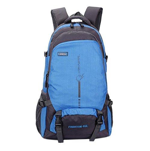 LINGE-Bergsteigen-Taschen wasserdicht Liebhaber Buch Tasche um Outdoor Freizeit Notebook-Rucksack 45 L Wandern Blue