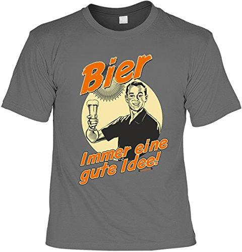 Shirt T Preis Das Ist Richtige Ideen (Bier Tshirt Partysprüche Biershirt Biersprüche : Bier Immer eine gute Idee! -- T-Shirt Bier Sprüche Motive Gr:)