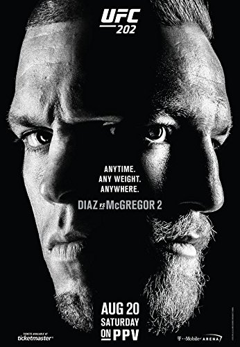 UFC 202 - NATE DIAZ VS CONOR MCGREGOR Imported Wall Poster Print  30CM X 43CM