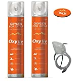 #2: OXY LIV Portable Oxygen Cylinder With Oxygen Face Mask / Pack of 2 oxygen cylinder & 1 oxygen face Mask
