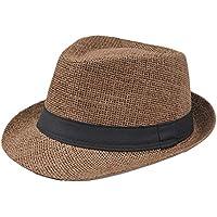 Gespout Cappello Adulti Uomo Cappello Panama Tesa Larga Cappello da Sole  Cappello del Bacino Berretto da e6bd5905177a