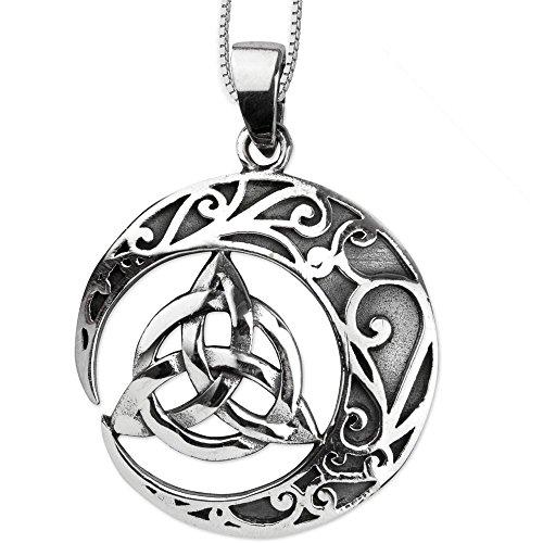 DarkDragon Anhänger Keltischer Knoten Amulett 925er Silber Schmuck Celtic - Schutzamulett - mit Kette Halskette Silberkette 465