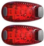 fomagi 2x LED-Sicherheitslicht - Blinklicht oder Dauerlicht - mit Clip
