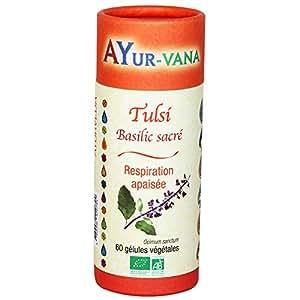 Ayur-Vana Tulsi Bio Pilulier de 60 Gélules