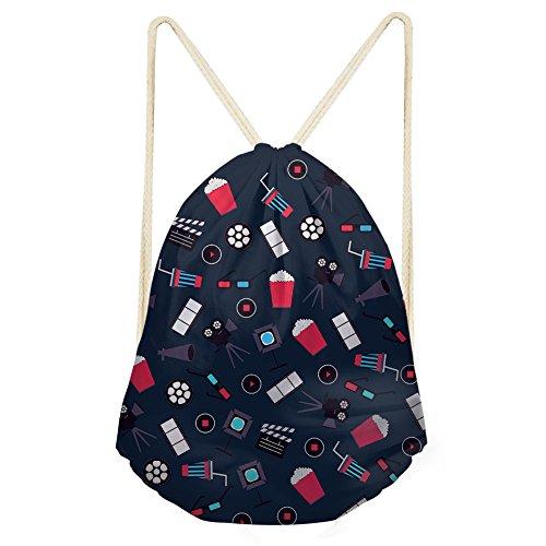 CHAQLIN Kids Funny Sports Gym Bag Drawstring Bag Backpack Swimm Girls Schoolbag