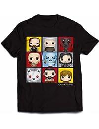 Official Juego de Tronos - Personaje Pop Art - Camiseta Oficial Hombre