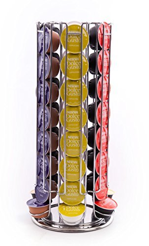 Peak coffee - supporto girevole per 48 capsule di caffè dolce gusto