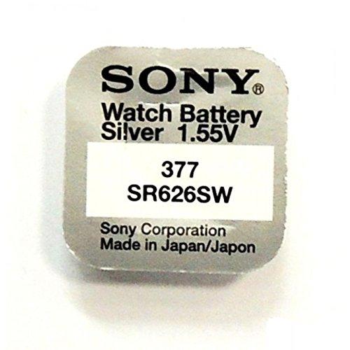 GOOD sony 377 sR626SW pile bouton pour montre argent oxydes box détail carte blister (lot de 5)