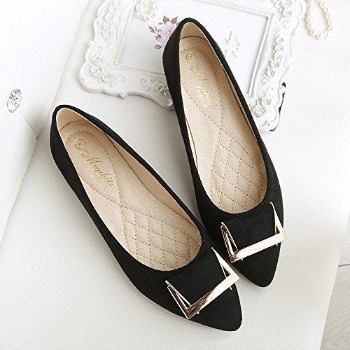 &qq Chaussures en daim, chaussures plates, chaussures de travail plates, chaussures pour femmes 40