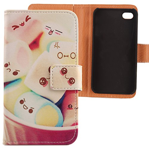 Lankashi PU Etui Housse Flip Coque Cover Cuir Case Protection Pour Apple iphone 5C Wing Girl Design Lovely