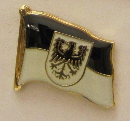 Pin Anstecker Flagge Fahne Ostpreussen Ost Preußen Adler Wappen Flaggenpin Badge Button Flaggen Clip Anstecknadel (Button Wappen)