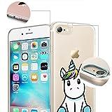 finoo | iPhone 6 und 6S Weiche flexible Silikon-Handy-Hülle | Transparente TPU Cover Schale mit Motiv | Tasche Case Etui mit Ultra Slim Rundum-schutz | Einhorn -