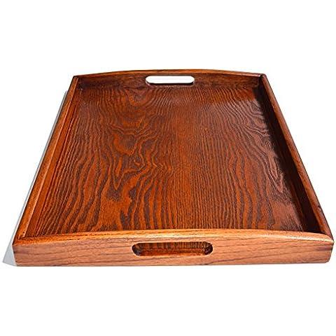 Dillman rectangular Bandeja para servir bandeja de madera resistentes a la rotura y sin BPA