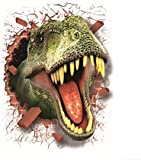 Moolecole New 3D Wall Stickers Environmental Protection Removable Decoration Dinosaur Wall Stickers Creative Wall Stickers Living Room Decoration