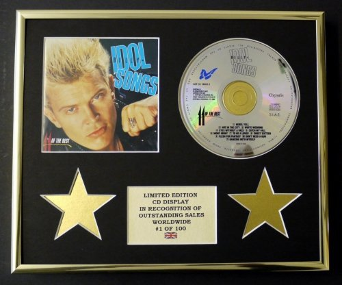 BILLY IDOL/CD Display/Limitata Edizione/Certificato di autenticità/11 OF THE BEST
