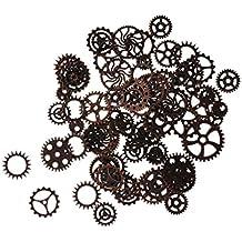 100g Mixed Steampunk Zahnräder Bunt Gothic Charms Bronze aus Metall