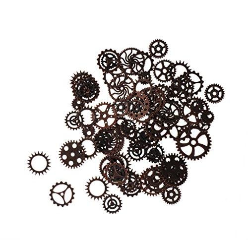 100g Mixed Steampunk Zahnräder Bunt Gothic Charms Bronze aus Metall - (Zahnrad Halskette Steampunk)