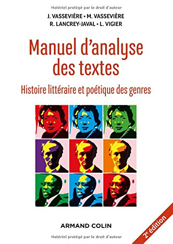 Manuel d'analyse des textes - 2e éd. - Histoire littéraire et poétique des genres par Jacques Vassevière
