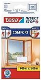 tesa Insect Stop COMFORT Fliegengitter für Fenster - Insektenschutz mit Klettband selbstklebend - Fliegen Netz...