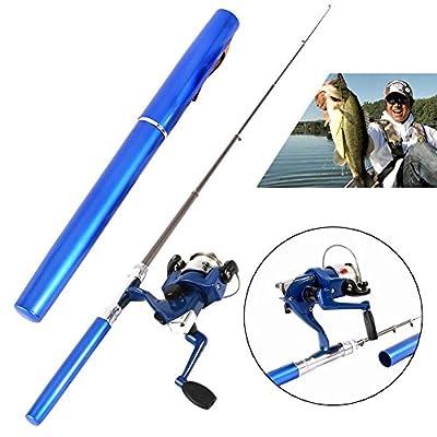 Fishing Rod Yiitay Spinning Wheel Pen Shape Fishing Rod + Reel+ Fishing line Sets by Yiitay