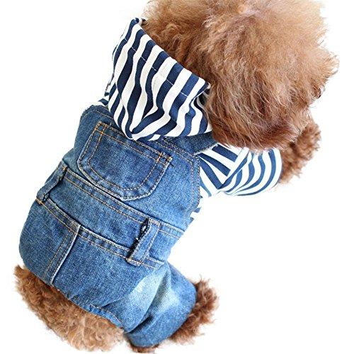 acke mit Jeans Denim Mantel für kleine medium Hunde Lapel, Cowboy-Decke für Welpen (Großer Hund Cowboy Kostüm)
