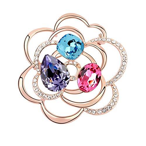 Comfot Lunar New Year Vintage-Element Crystal Necklace Hochzeits-Dress Dekorationsgeschenk für Mädchen,001