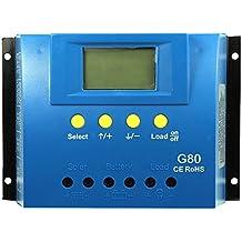 Gazechimp Regulador Automático de Carga 30/60/80A Solar Panel Exhibición de LCD PWM - 80A