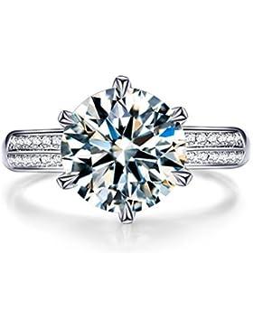 Wiftly Damen Ringe Öffnung Verstellbar 925er Sterling Silber mit Zirkonia Memoir-Ringe Partnerschaftsringe Trauringe...