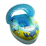 #9: TZS® Seat Baby Swim Floating Ring Boat Swimming Pool Float Inflatable Pool Ring Aid Trainer