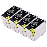 DOREE T2711XL Ink Cartridges 4Pack High Capacity Ink Compatible with Epson WF 3640 7610 3620 7620 7110 Printer (4 Black)