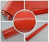 5,70€/m² Auto Folie - rot glanz glänzend - 1 x 1,5 meter - selbstklebend BLASENFREI flexibel Car Wrapping Klebefolie folieren