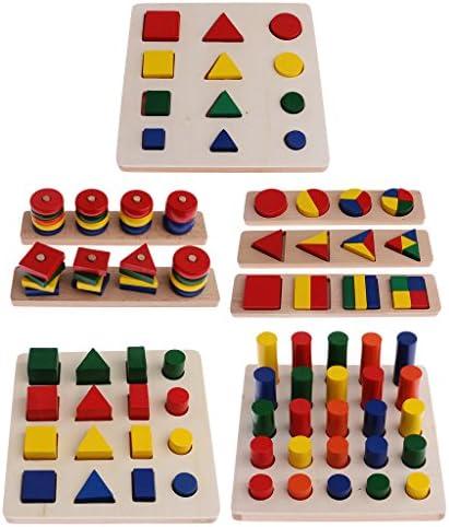 KESOTO Montessori géométrie matérielle sensorielle plusieurs blocs correspondant à des jouets | Up-to-date Styling