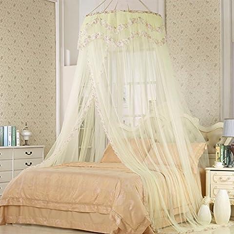 uus Moustiquaires Moustiquaires Canapé Hook Palace 1.8m M Lit Suspendu Plafond Double Maison 1.5 M Princesse Vent Simple Mosquito Pest Control Poussière Mosquito Nets ( Couleur : Beige , taille : 1.8m Bed )