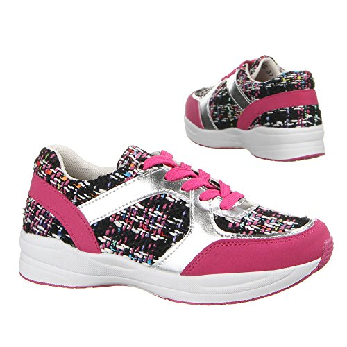 Ital-Design - Sneaker Donna Multicolore (Rosa/Multicolore)