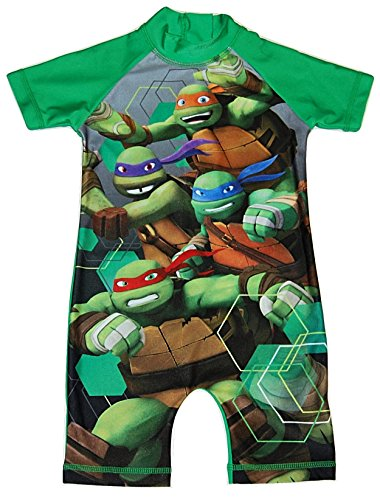 Image of Boys All in One Swimming Suit Costume Swimwear Teenage Mutant Ninja Turtles 18-24 Months to 405 Years (3-4 Years)