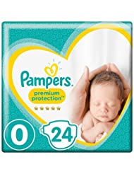 Pampers Premium Protection Baby Windeln, Gr.0 Micro (1,5 - 2,5 kg), Tragepack, 1er Pack (1 x 24 Stück)