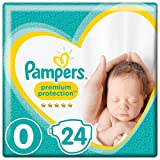 Pampers Premium Protection New Baby Nappies – Size 0, Pack of 144