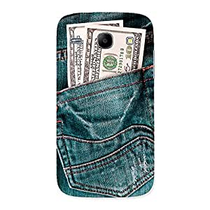 Ashro G Dollar Jeans Back Case Cover for Galaxy Core
