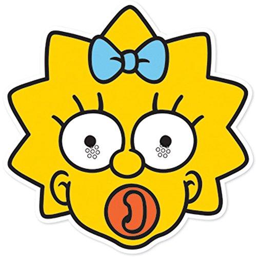 Simpson Maggie Kostüm - Star Cutouts Bedruckte Gesichtsmaske von Maggie Simpson Maske