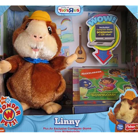 WONDER PETS LINNY Plush HAMSTER w Exclusive COMPUTER GAME DOWNLOAD ToysRUs (2008) by Nickelodeon