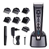 DEERCON Herren Haarschneider für Männer Haarschneidemaschine Elektrischer Bartschneider Rasierer Haarschere