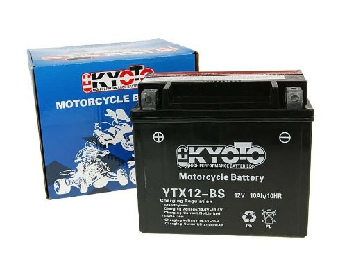 BATTERIA YTX12-BS KYOTO MOTO SCOOTER APRILIA SCARABEO LIGHT 125 200