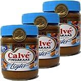 Calve Erdnussbutter light (30% weniger Fett), 3x 350g Glas