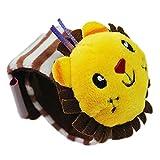 Sharplace Kinder Plüschtier Armband Spielzeug, Handgelenk Rassel Pädagogisches Spielzeug für Kleinkinder Geschenk - 3x17cm - Löwe