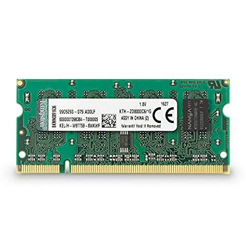 Kingston KTH-ZD8000C6/1G PC2-6400 Arbeitspeicher 1 GB (800 MHz, 200-polig, 1 x 1 GB) DDR2-SDRAM Kit