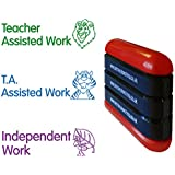 """Primary Teaching Services """"Teacher T.A. Independent work"""" 3-in-1 Stack and Stamp"""